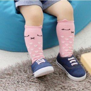Sweet peach baby knee high socks
